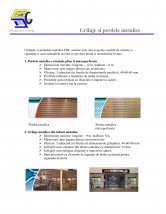 Grilaje si perdele metalice
