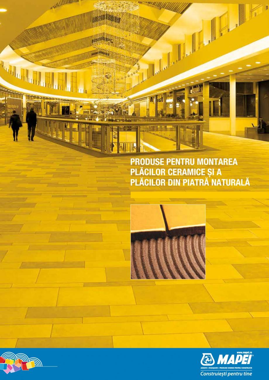 Pagina 1 - Produse pentru montarea placilor ceramice si din piatra naturala MAPEI Catalog, brosura...