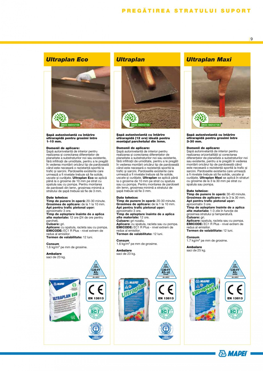 Pagina 9 - Produse pentru montarea placilor ceramice si din piatra naturala MAPEI Catalog, brosura...