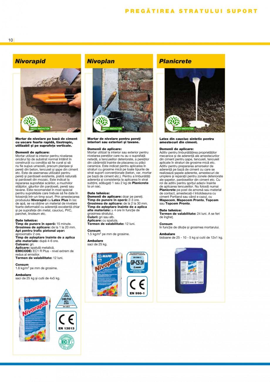 Pagina 10 - Produse pentru montarea placilor ceramice si din piatra naturala MAPEI Catalog, brosura ...