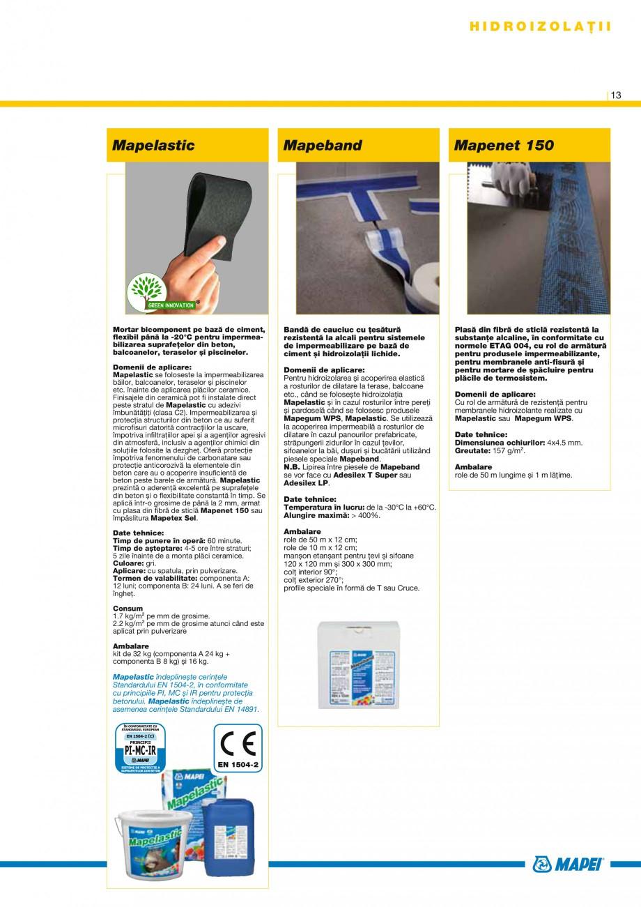 Pagina 13 - Produse pentru montarea placilor ceramice si din piatra naturala MAPEI Catalog, brosura ...