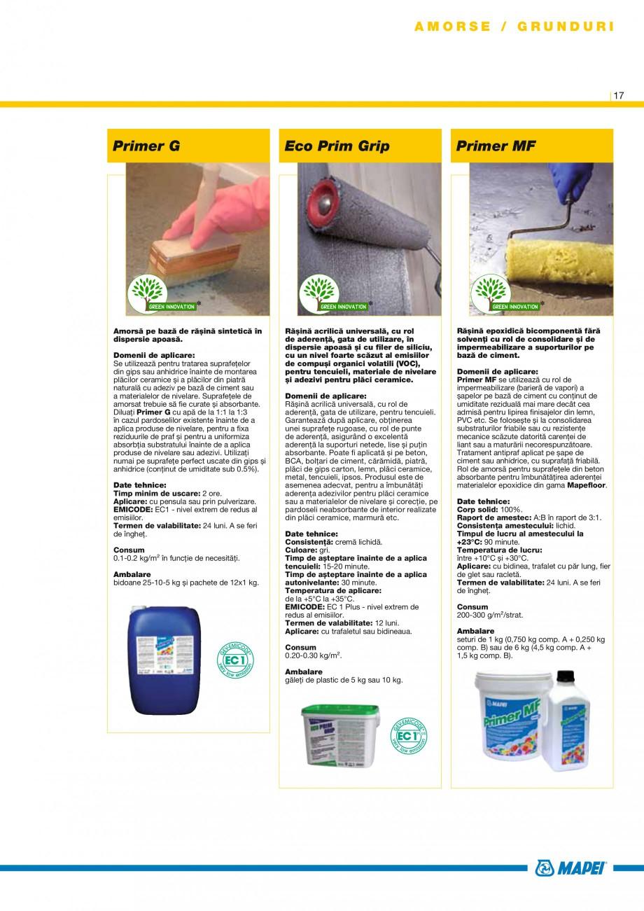 Pagina 17 - Produse pentru montarea placilor ceramice si din piatra naturala MAPEI Catalog, brosura ...