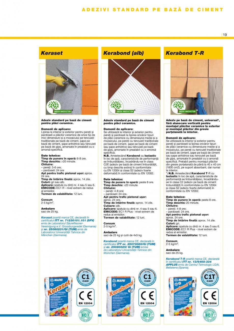 Pagina 20 - Produse pentru montarea placilor ceramice si din piatra naturala MAPEI Catalog, brosura ...