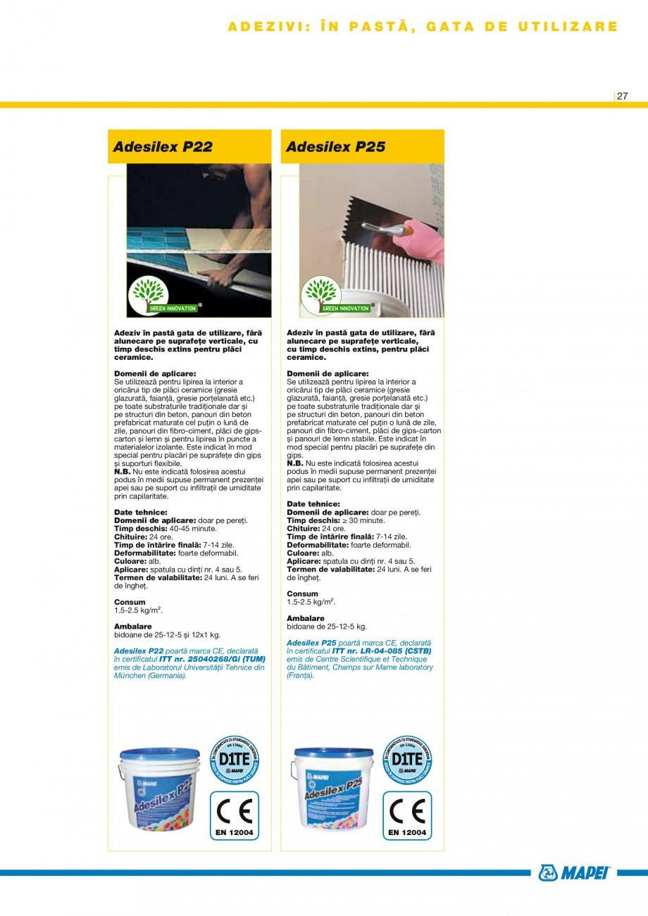 Pagina 28 - Produse pentru montarea placilor ceramice si din piatra naturala MAPEI Catalog, brosura ...