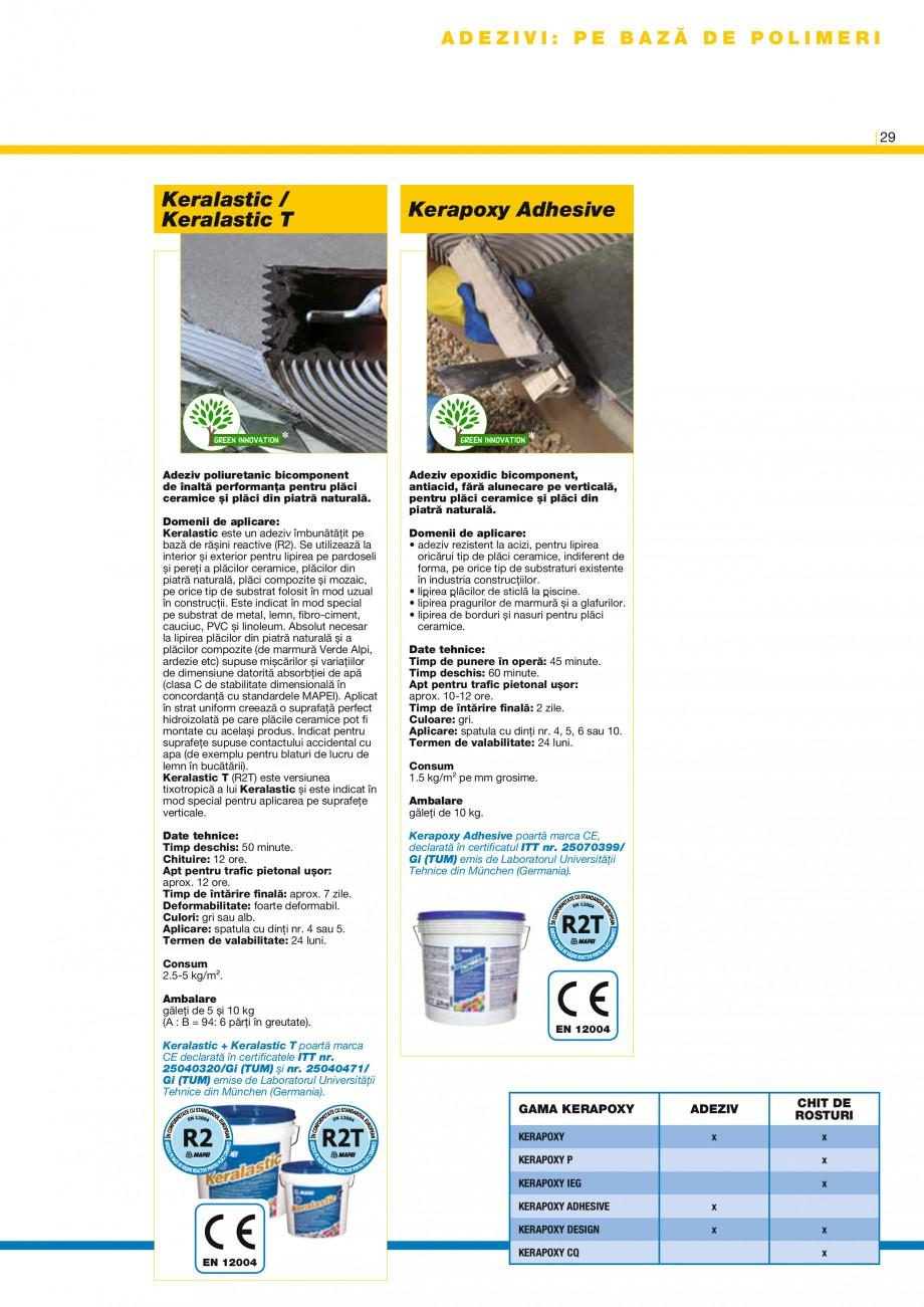 Pagina 30 - Produse pentru montarea placilor ceramice si din piatra naturala MAPEI Catalog, brosura ...