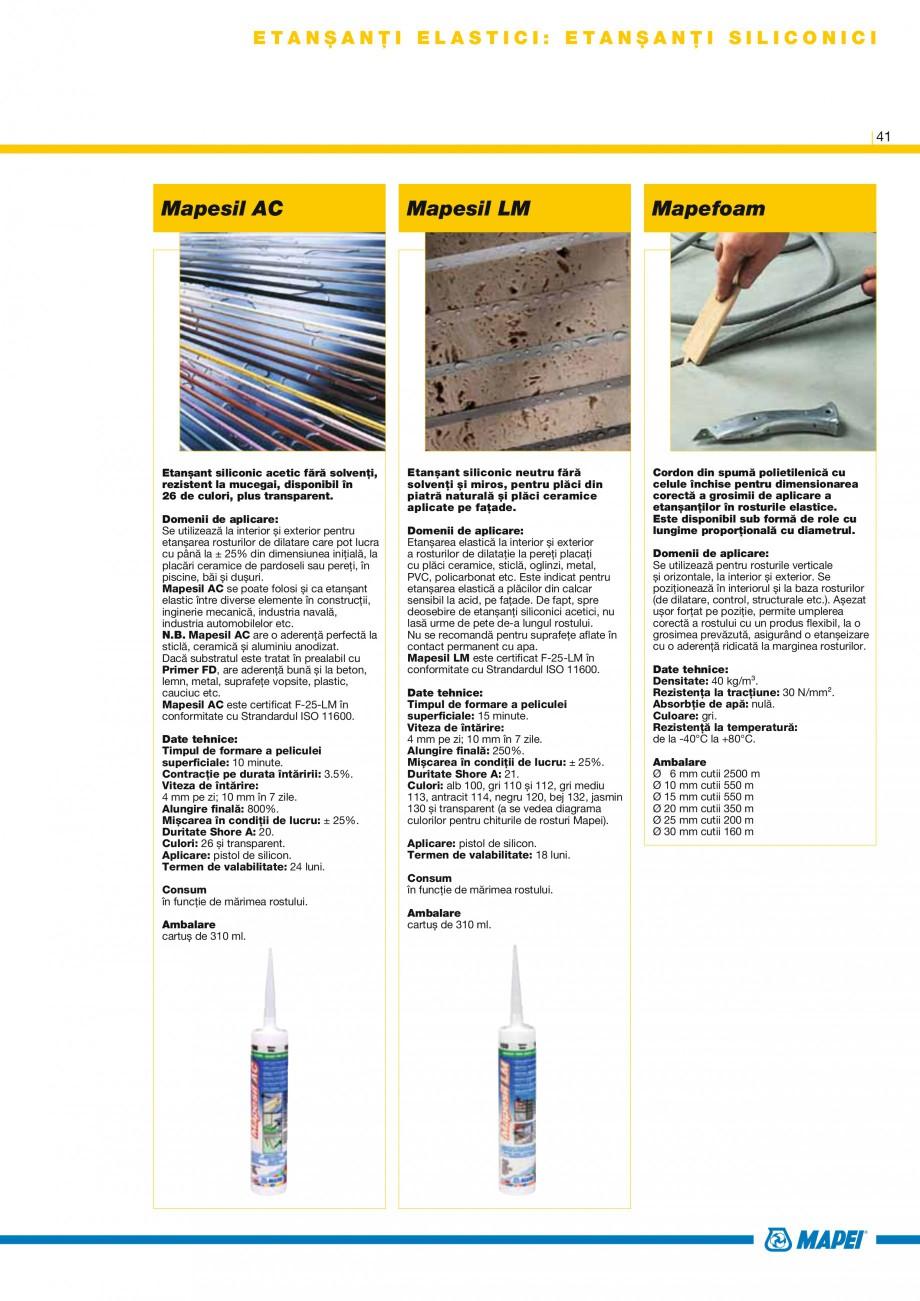 Pagina 43 - Produse pentru montarea placilor ceramice si din piatra naturala MAPEI Catalog, brosura ...