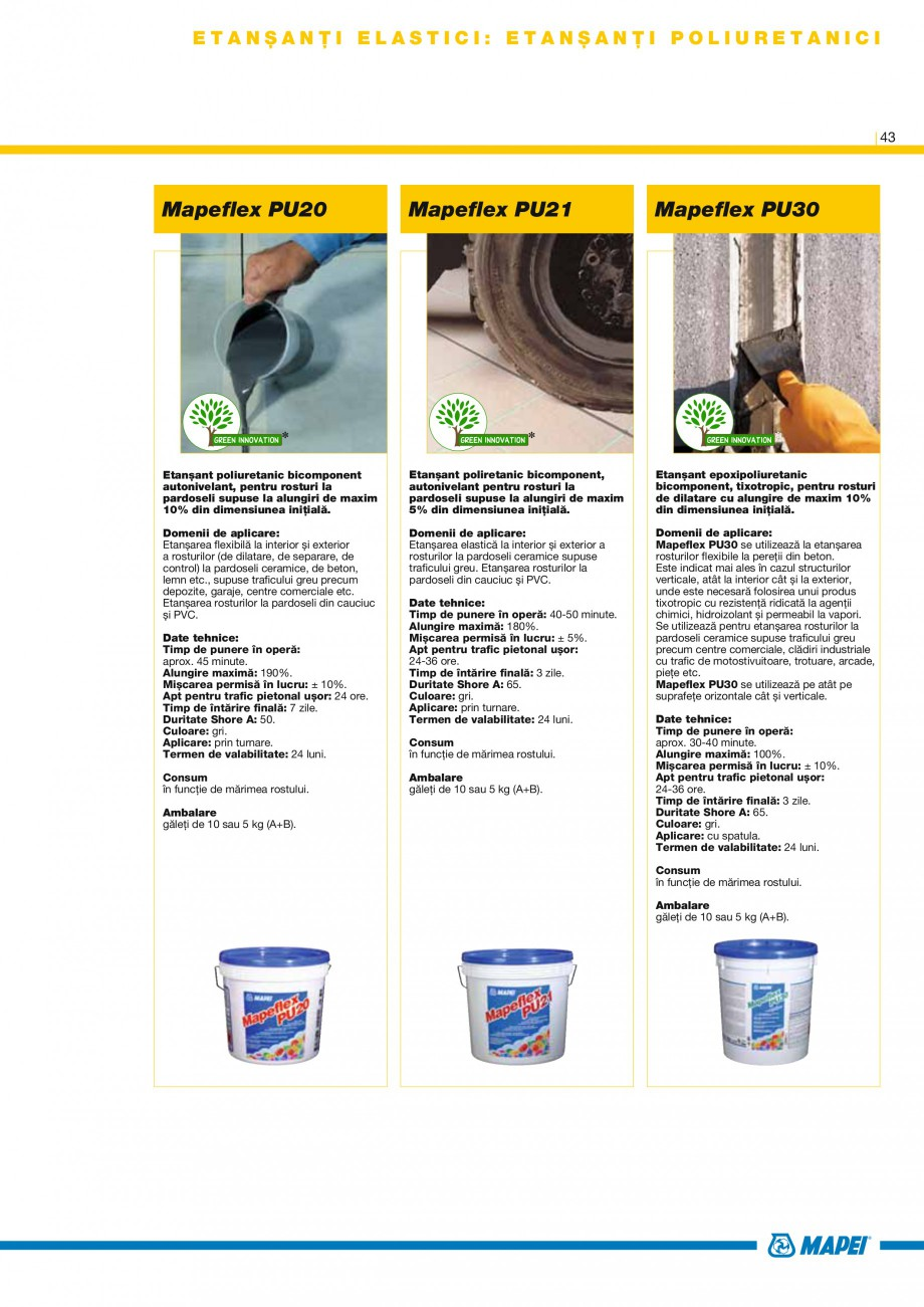 Pagina 45 - Produse pentru montarea placilor ceramice si din piatra naturala MAPEI Catalog, brosura ...