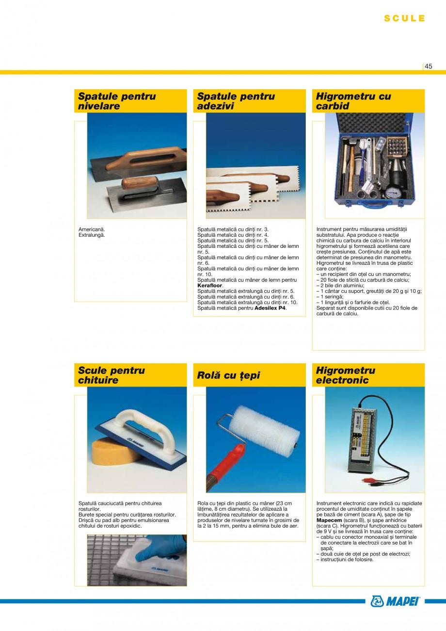 Pagina 47 - Produse pentru montarea placilor ceramice si din piatra naturala MAPEI Catalog, brosura ...