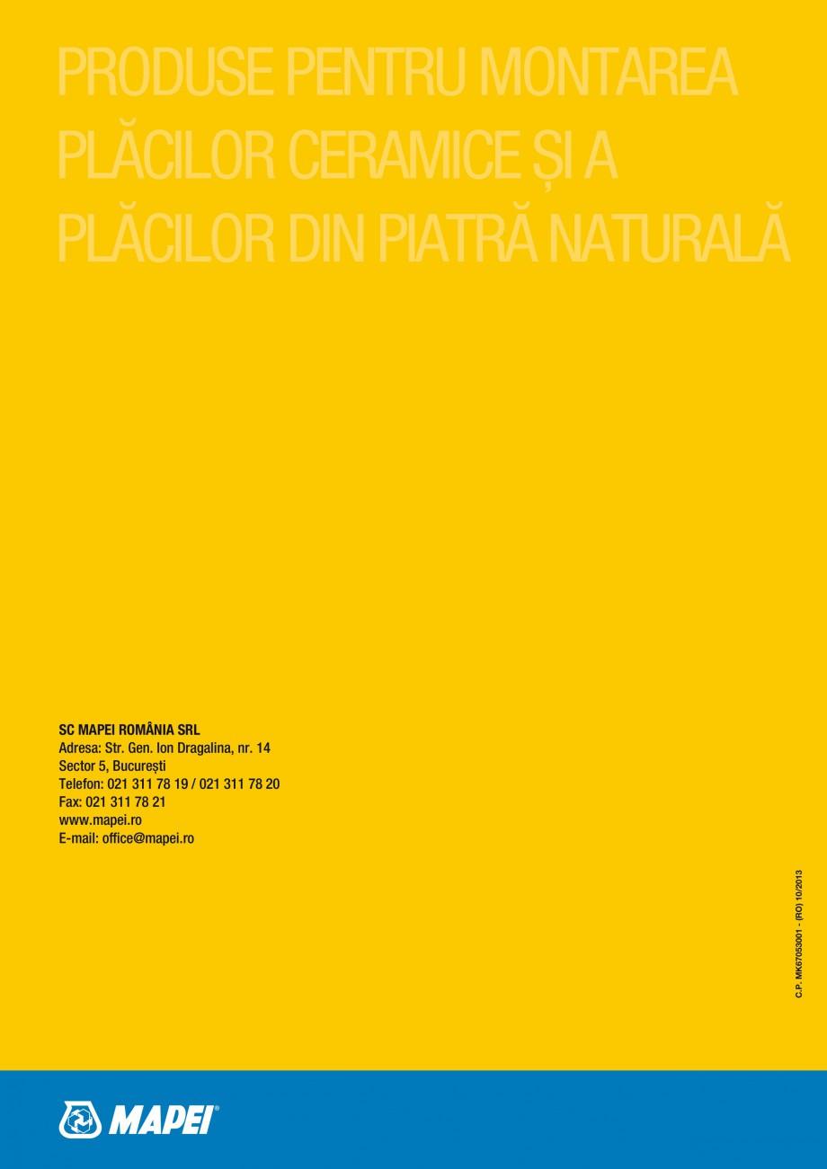 Pagina 52 - Produse pentru montarea placilor ceramice si din piatra naturala MAPEI Catalog, brosura ...