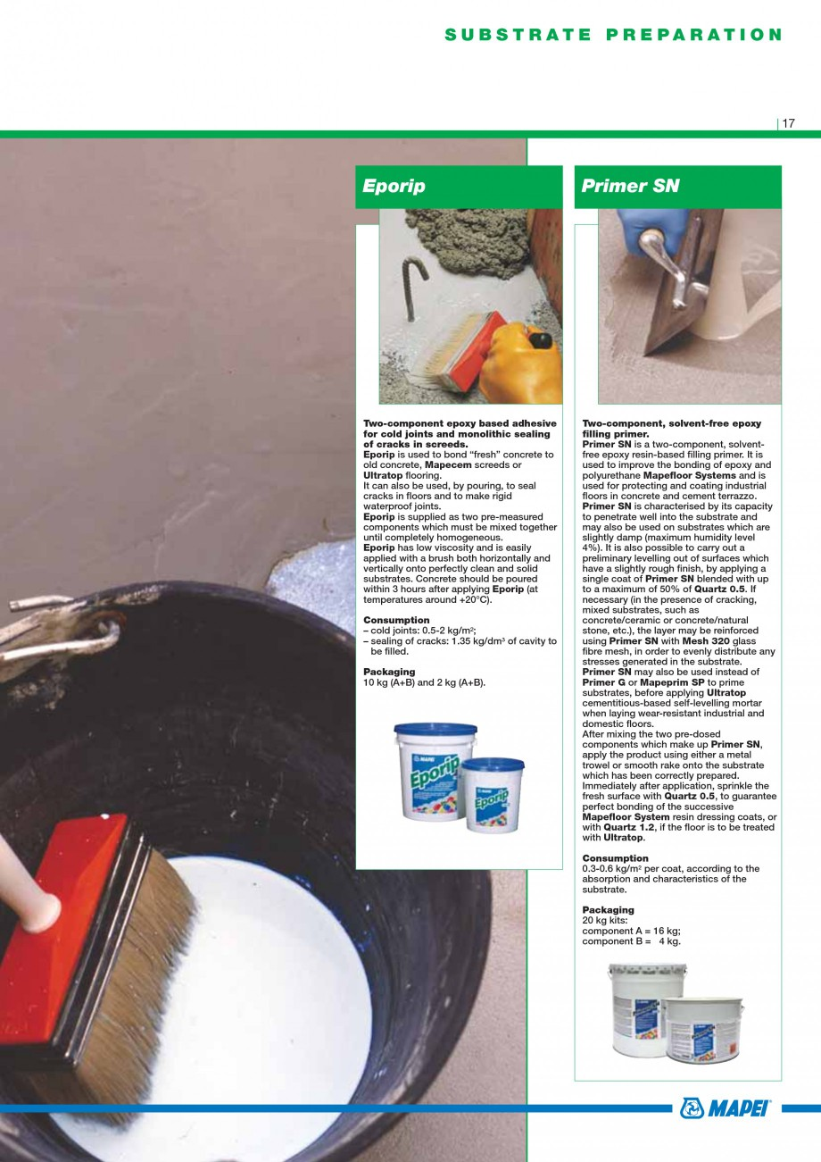 Pagina 19 - Mortare, materiale speciale MAPEI Catalog, brosura Engleza dproofing system with...