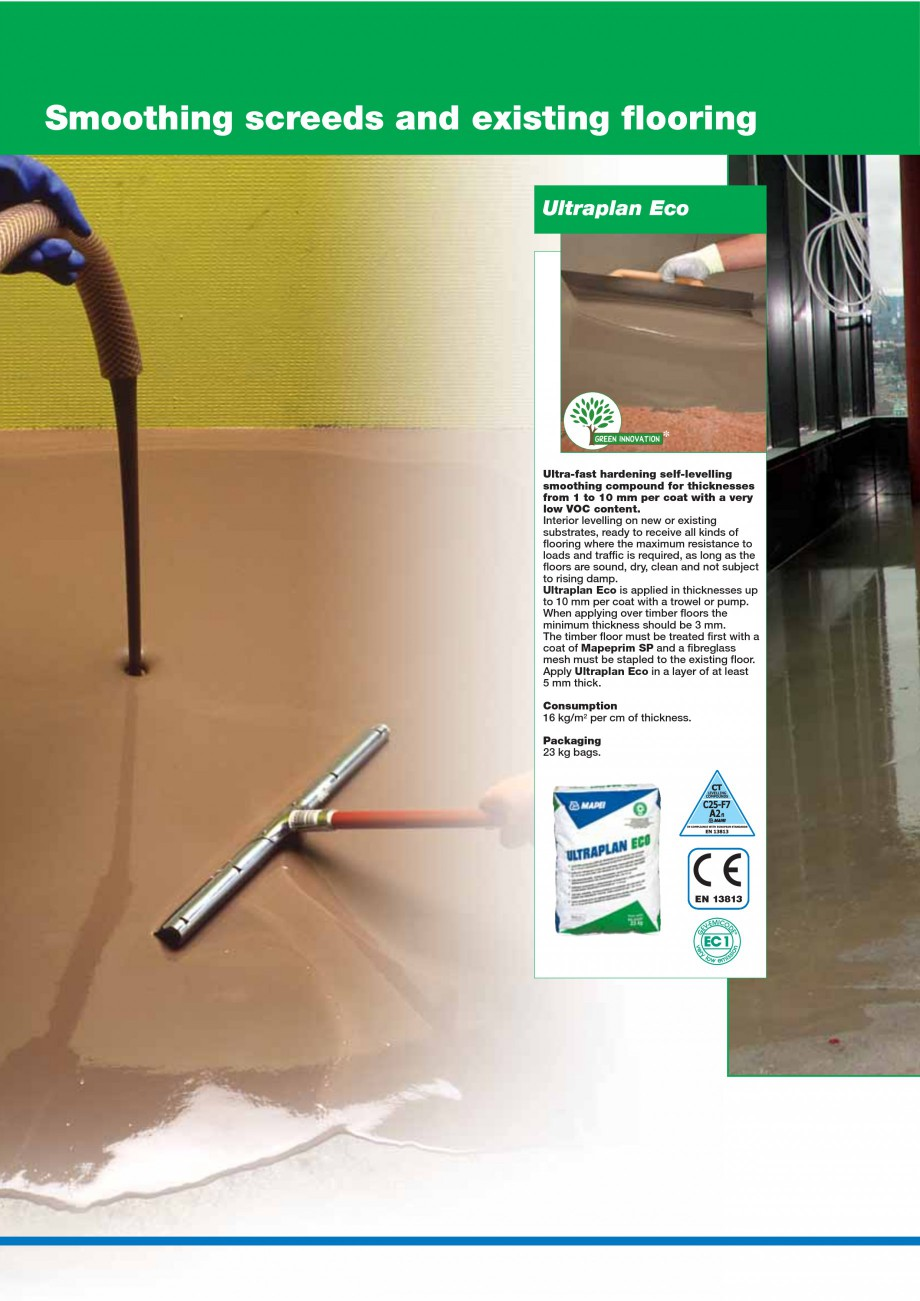 Pagina 20 - Mortare, materiale speciale MAPEI Catalog, brosura Engleza flooring where fast-drying...