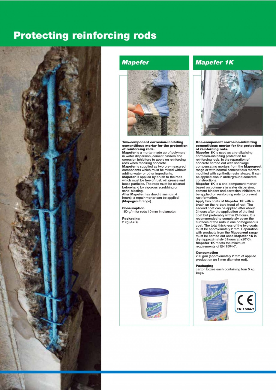 Pagina 24 - Mortare, materiale speciale MAPEI Catalog, brosura Engleza  of cavity to be filled....