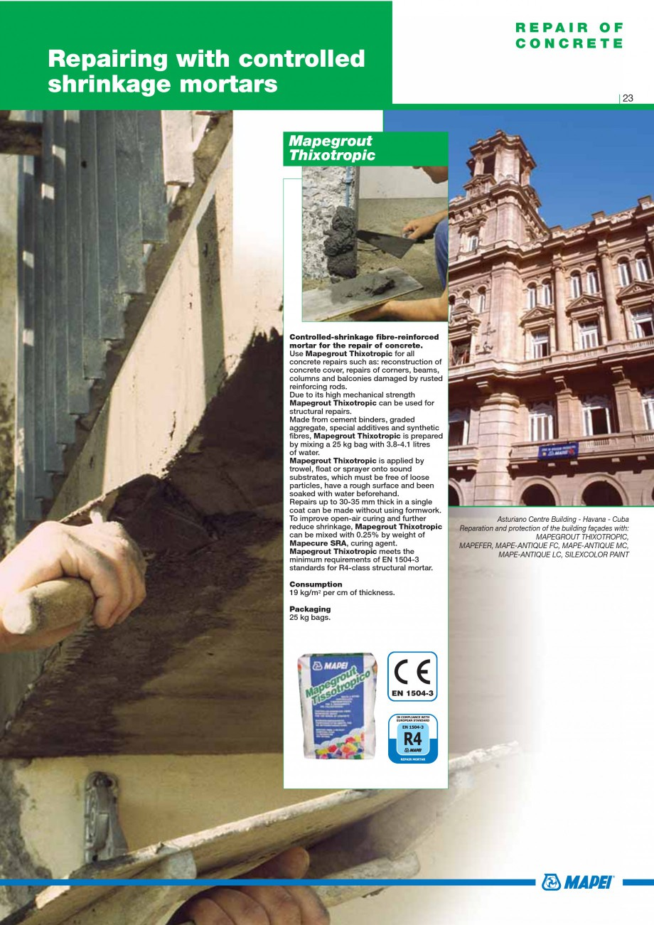 Pagina 25 - Mortare, materiale speciale MAPEI Catalog, brosura Engleza rete with 2 or 3 parts of...