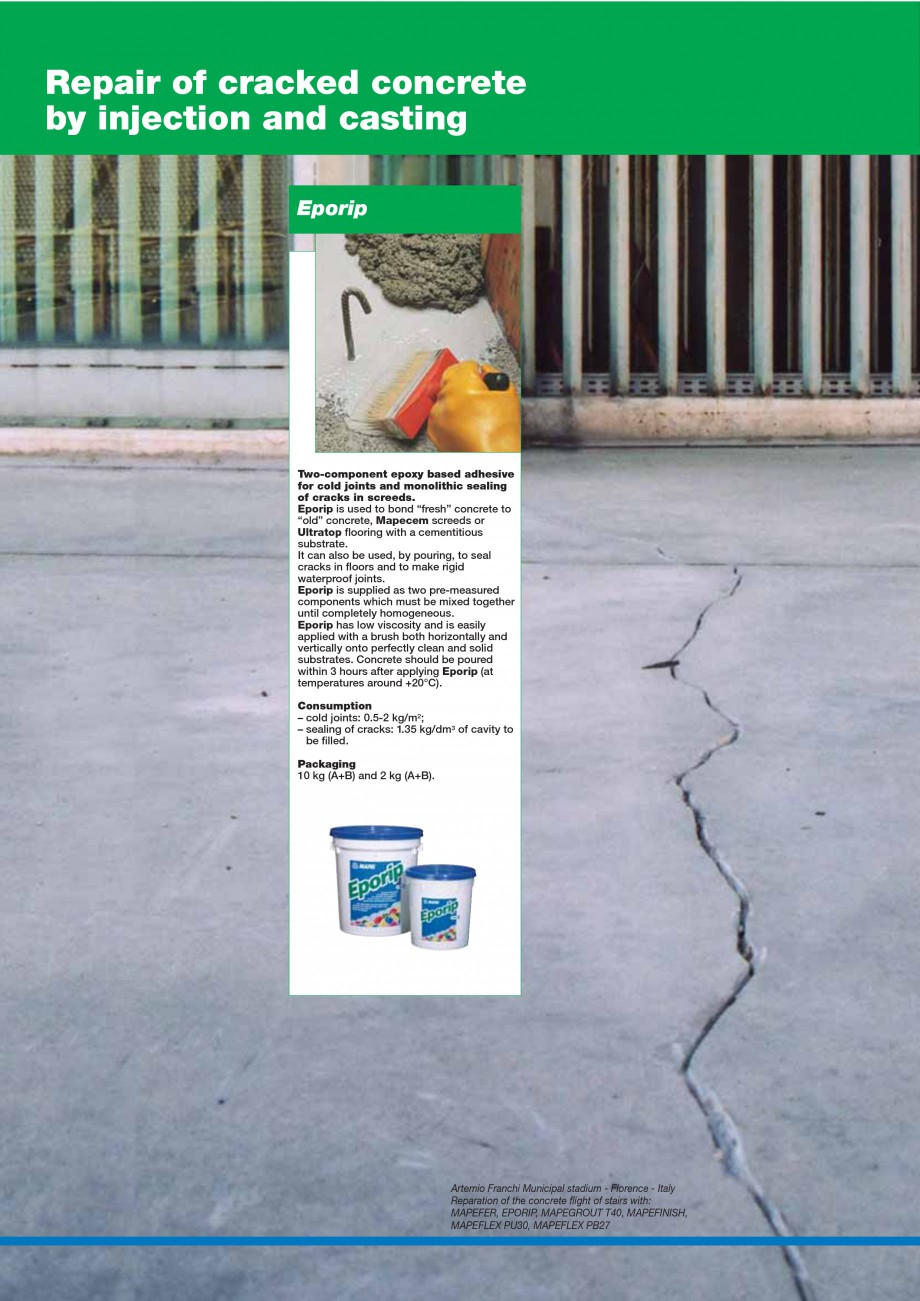 Pagina 36 - Mortare, materiale speciale MAPEI Catalog, brosura Engleza  steps, edges of pillars,...