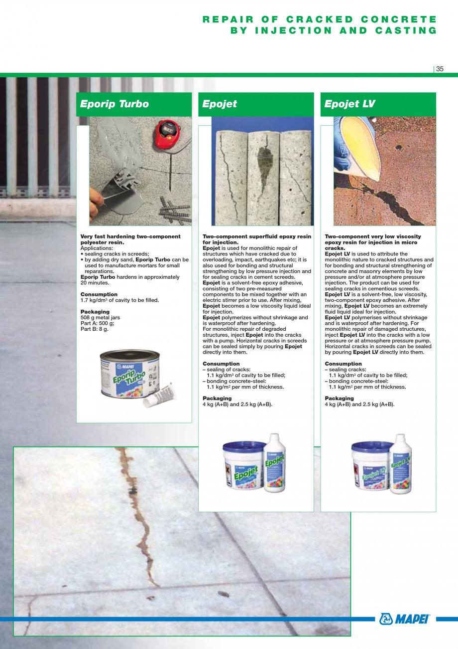 Pagina 37 - Mortare, materiale speciale MAPEI Catalog, brosura Engleza   C40-F10 2  LEVELLING...