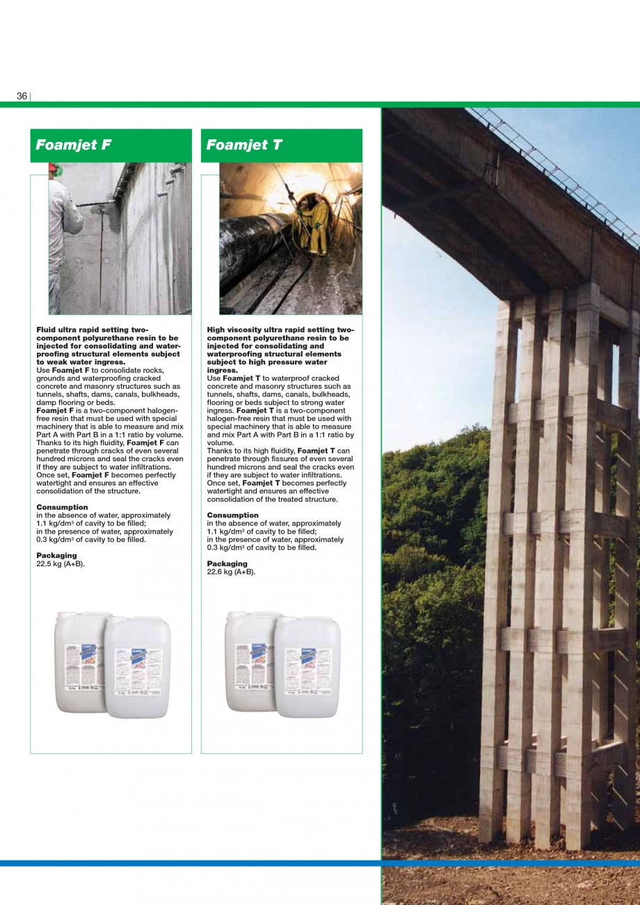 Pagina 38 - Mortare, materiale speciale MAPEI Catalog, brosura Engleza ration of concrete carried...