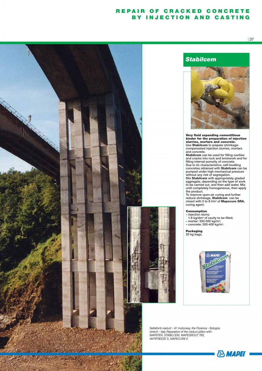 Pagina 39 - Mortare, materiale speciale MAPEI Catalog, brosura Engleza n an 8 mm diameter rod)....