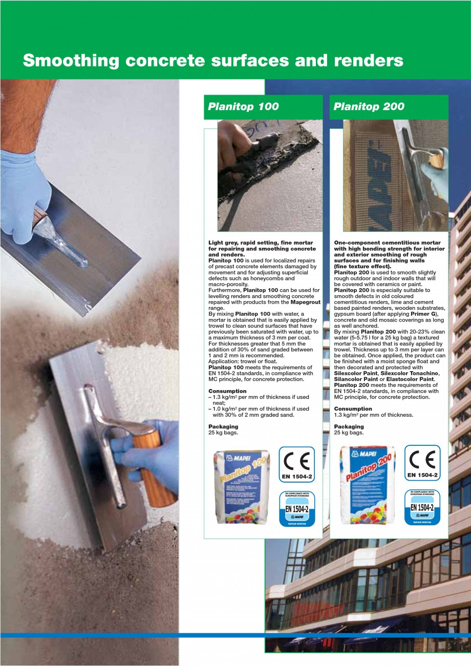 Pagina 40 - Mortare, materiale speciale MAPEI Catalog, brosura Engleza  further reduce shrinkage,...
