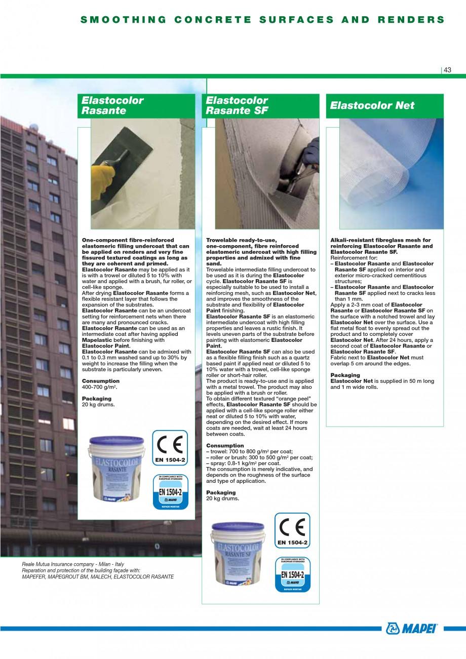 Pagina 45 - Mortare, materiale speciale MAPEI Catalog, brosura Engleza 504-3  26  Mapegrout Easy...