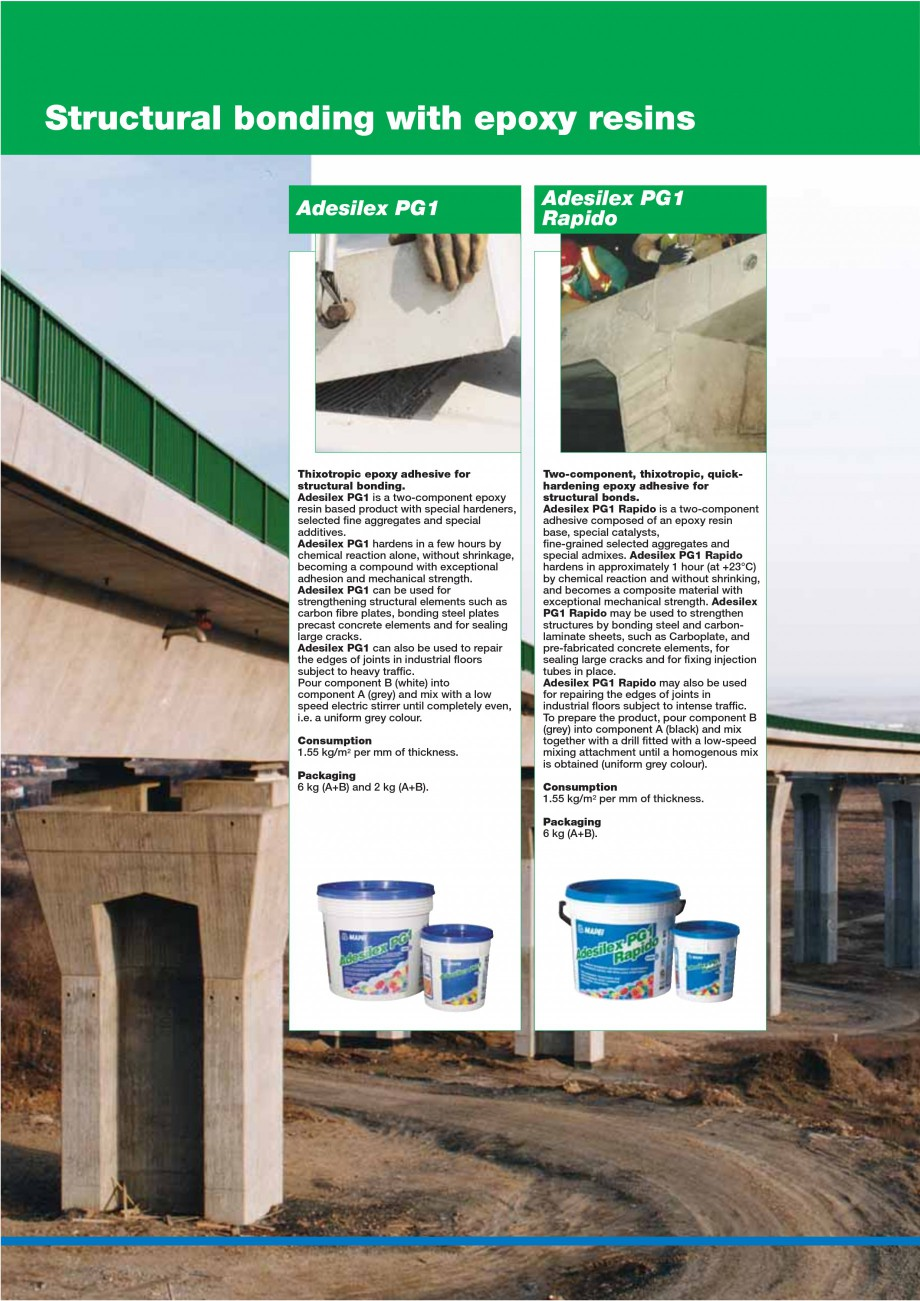 Pagina 46 - Mortare, materiale speciale MAPEI Catalog, brosura Engleza  use of formwork. Maximum...