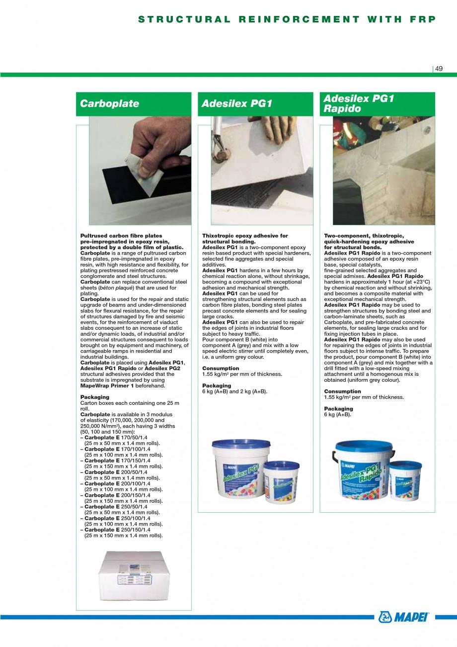 Pagina 51 - Mortare, materiale speciale MAPEI Catalog, brosura Engleza ked multipurpose...