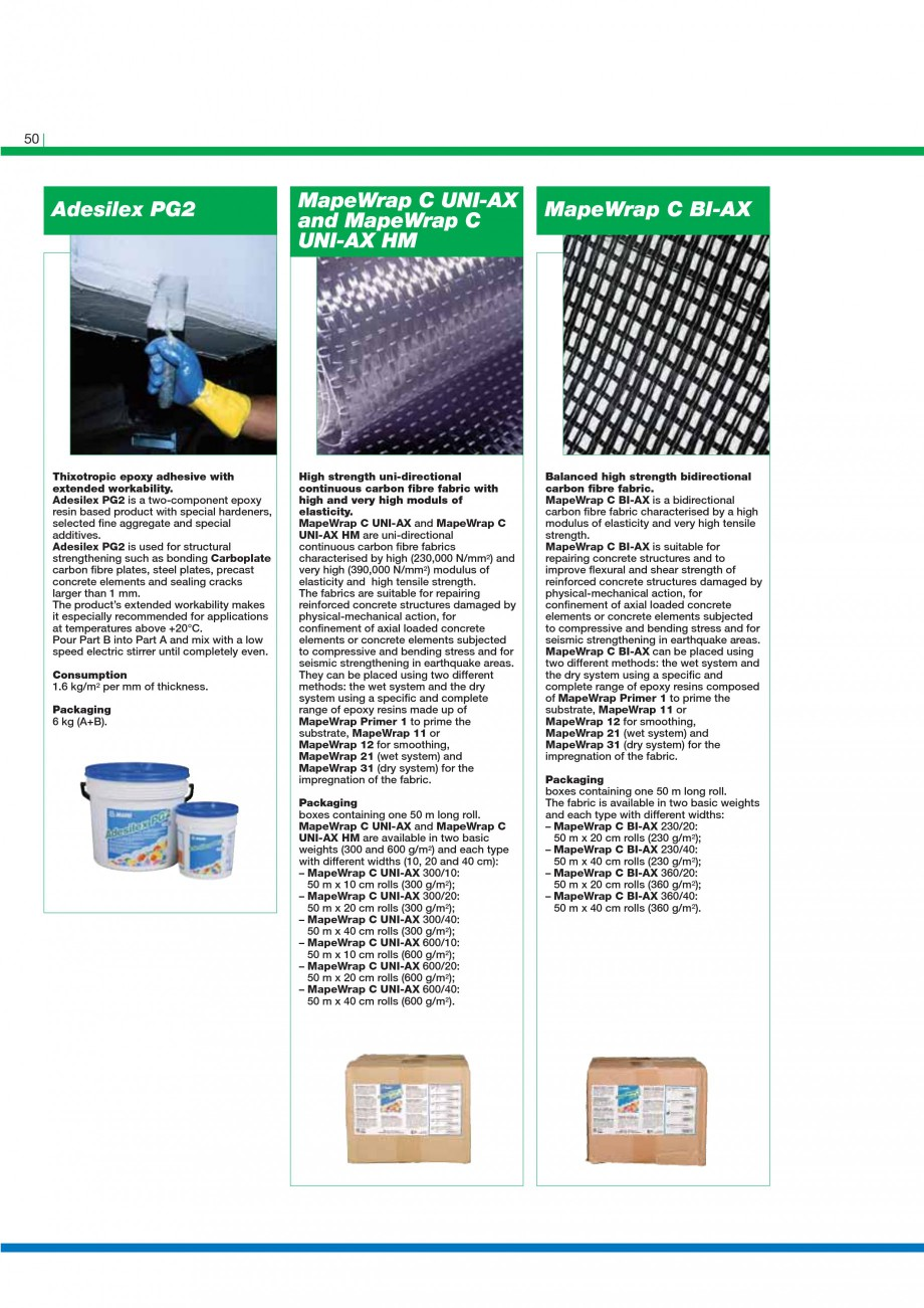 Pagina 52 - Mortare, materiale speciale MAPEI Catalog, brosura Engleza low for the repair of very...