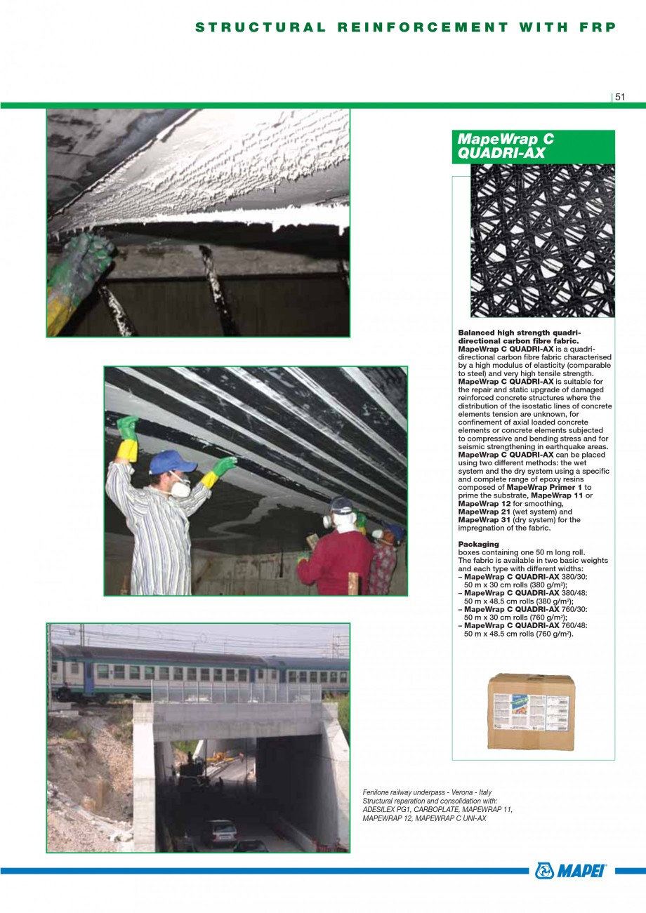 Pagina 53 - Mortare, materiale speciale MAPEI Catalog, brosura Engleza  GF is used to repair...