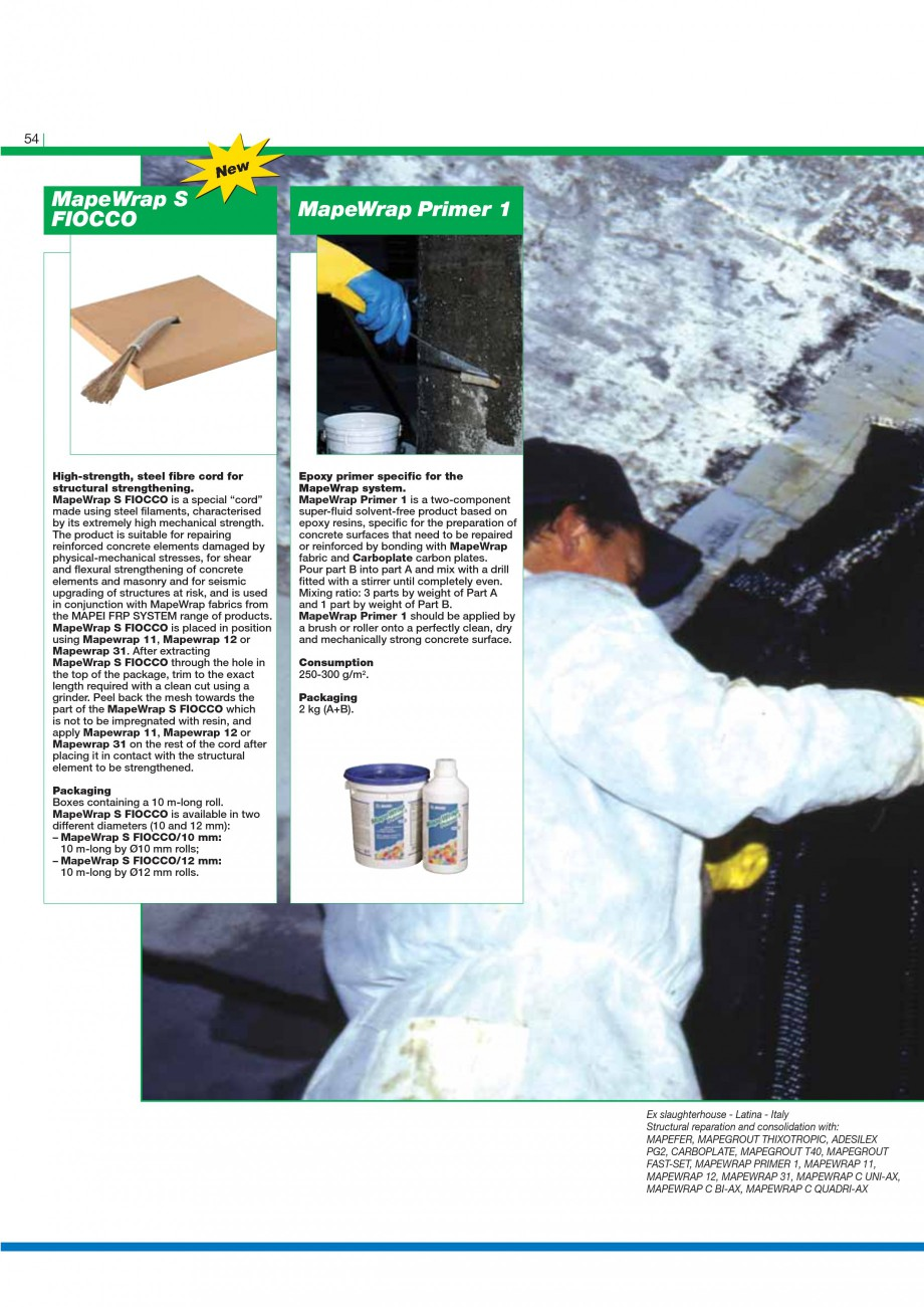 Pagina 56 - Mortare, materiale speciale MAPEI Catalog, brosura Engleza  made up of cold-drawn,...