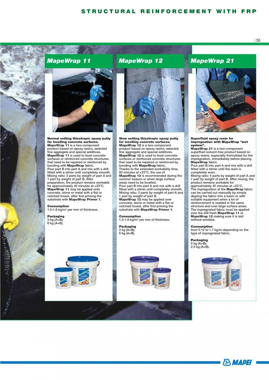 Pagina 57 - Mortare, materiale speciale MAPEI Catalog, brosura Engleza airing highlydeteriorated...