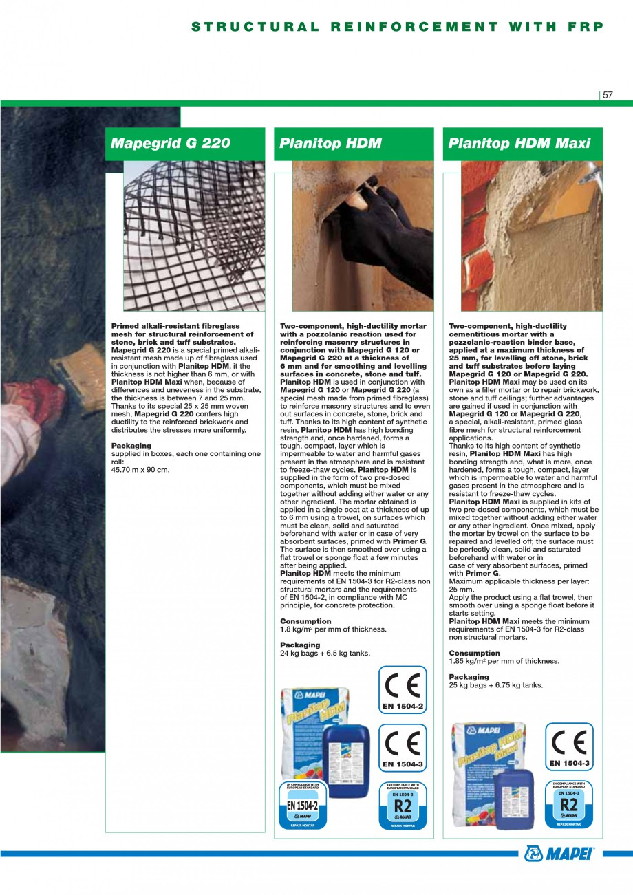 Pagina 59 - Mortare, materiale speciale MAPEI Catalog, brosura Engleza terials and special additives...