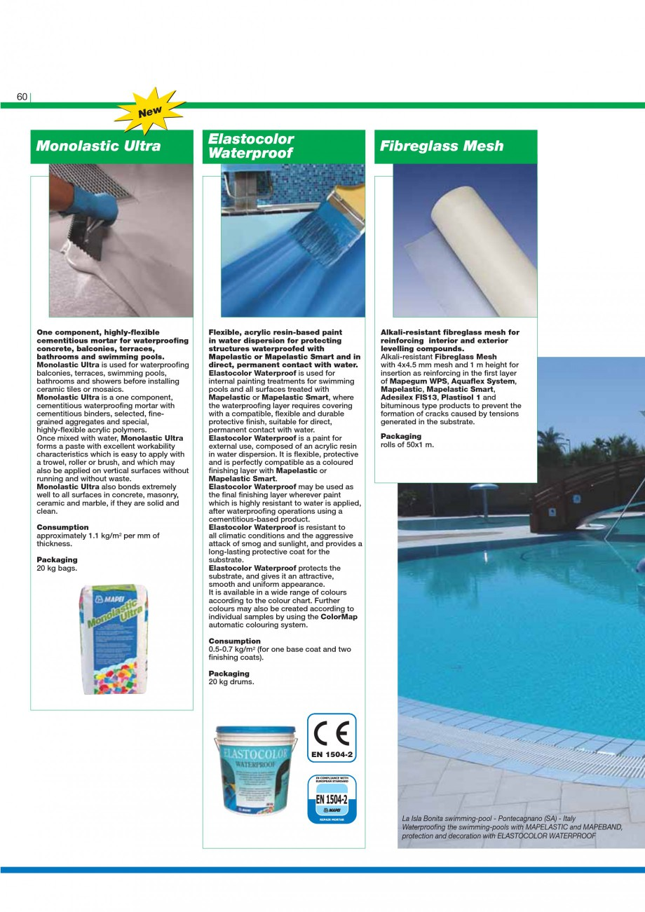 Pagina 62 - Mortare, materiale speciale MAPEI Catalog, brosura Engleza ing boxes of six 2.5 kg bags....