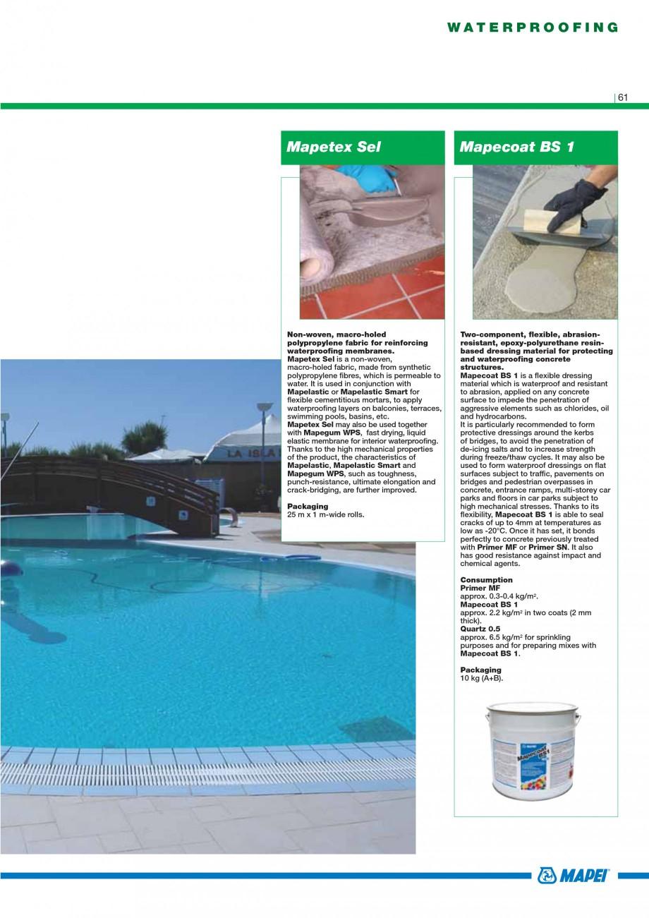 Pagina 63 - Mortare, materiale speciale MAPEI Catalog, brosura Engleza 25 kg bags.  Pumping aid...