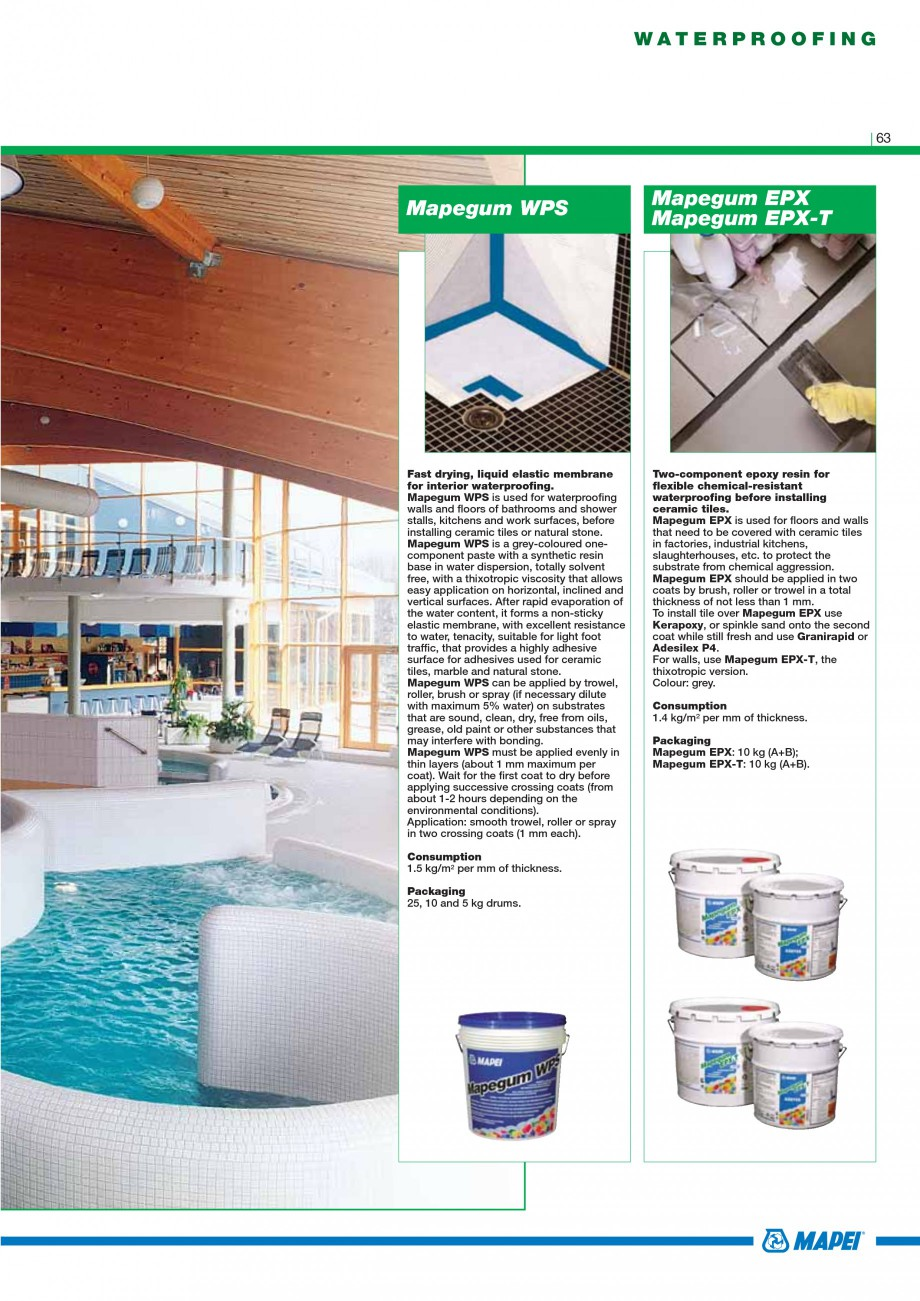 Pagina 65 - Mortare, materiale speciale MAPEI Catalog, brosura Engleza ture concretes with different...