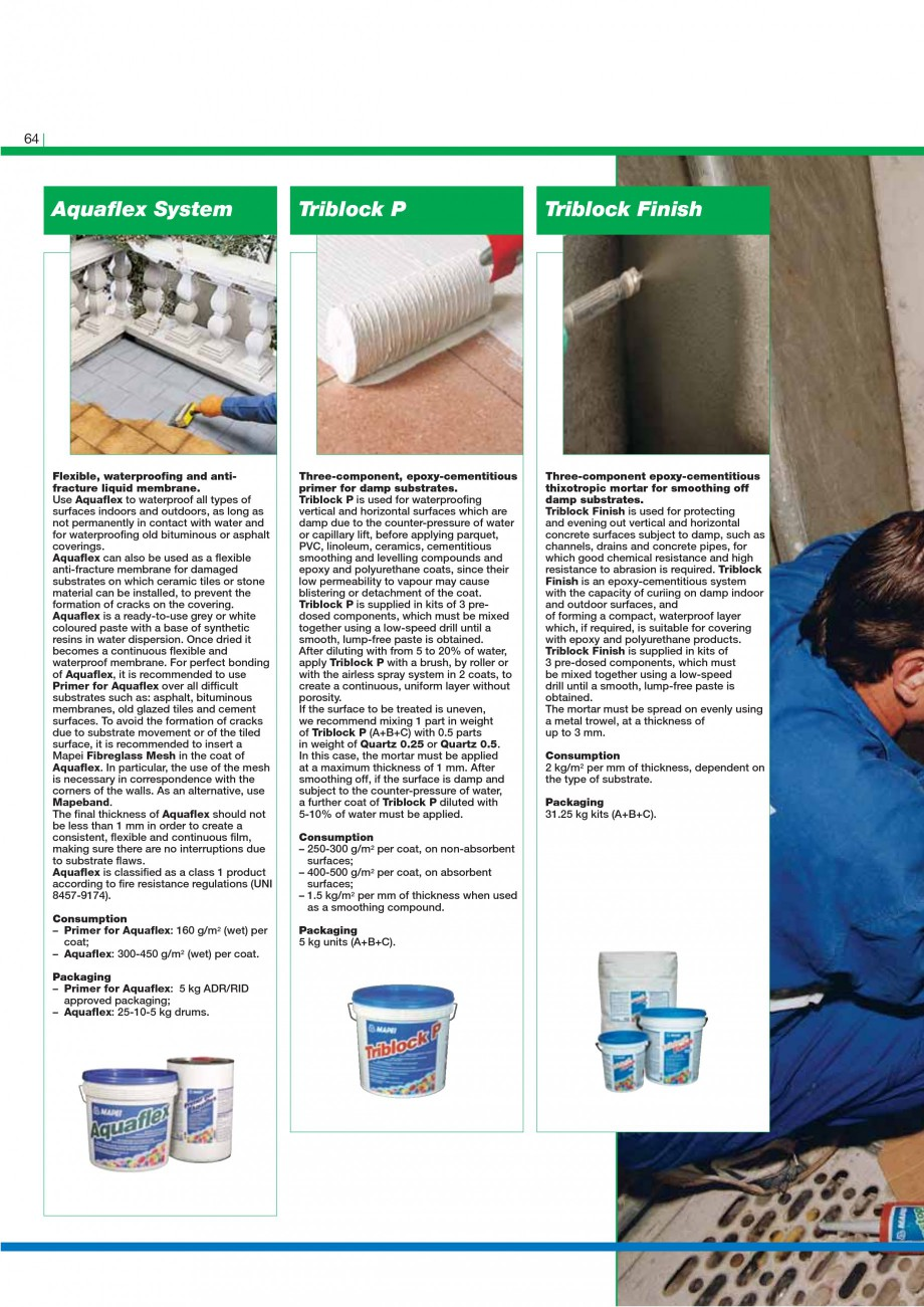 Pagina 66 - Mortare, materiale speciale MAPEI Catalog, brosura Engleza .  Repairing with epoxy...