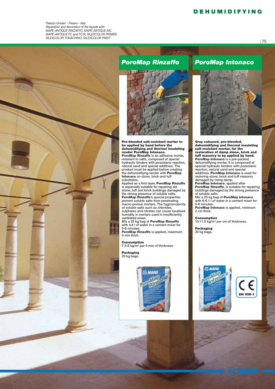 Pagina 77 - Mortare, materiale speciale MAPEI Catalog, brosura Engleza the addition of 30% of sand...