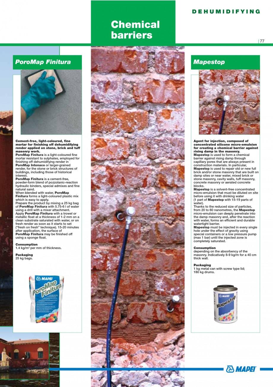Pagina 79 - Mortare, materiale speciale MAPEI Catalog, brosura Engleza r other deleterious...