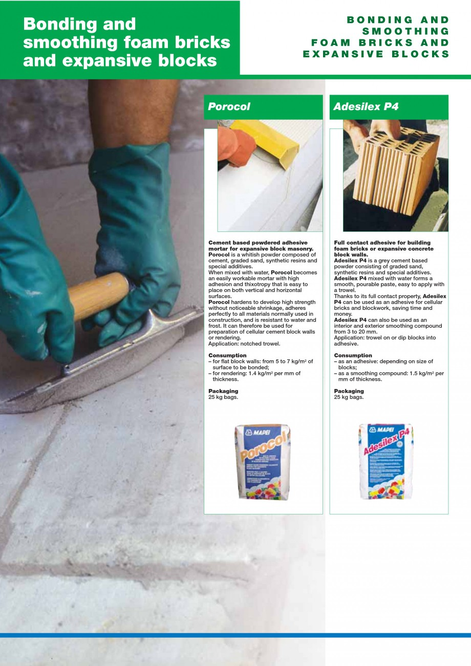 Pagina 84 - Mortare, materiale speciale MAPEI Catalog, brosura Engleza  finishing compound for...