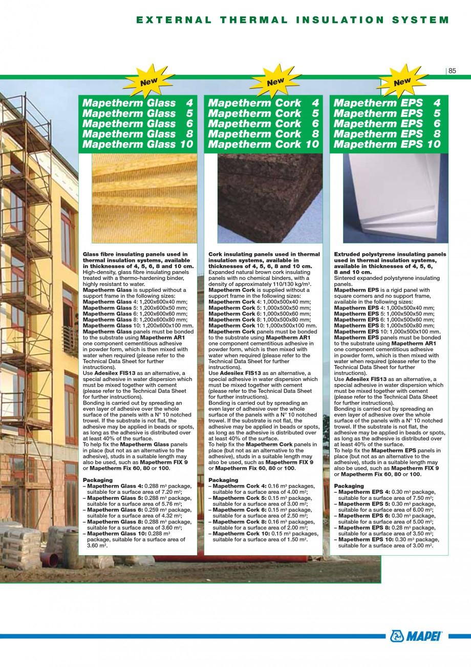 Pagina 87 - Mortare, materiale speciale MAPEI Catalog, brosura Engleza here wall paper or...