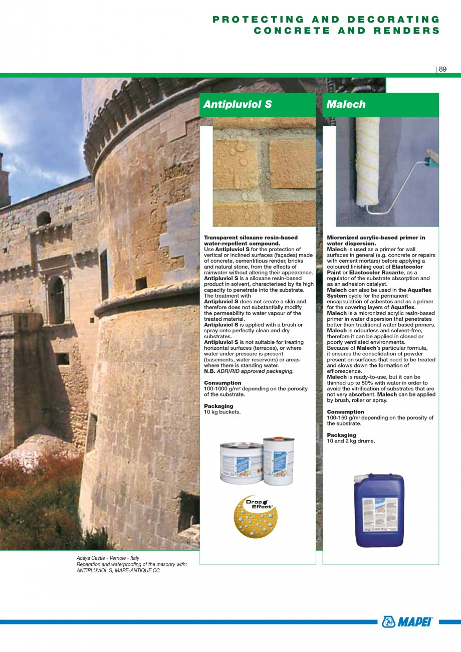 Pagina 91 - Mortare, materiale speciale MAPEI Catalog, brosura Engleza rowel on the surface to be...