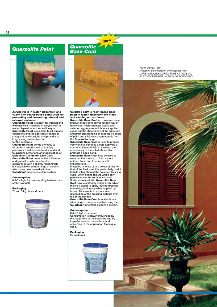 Pagina 100 - Mortare, materiale speciale MAPEI Catalog, brosura Engleza  used, by pouring, to seal...