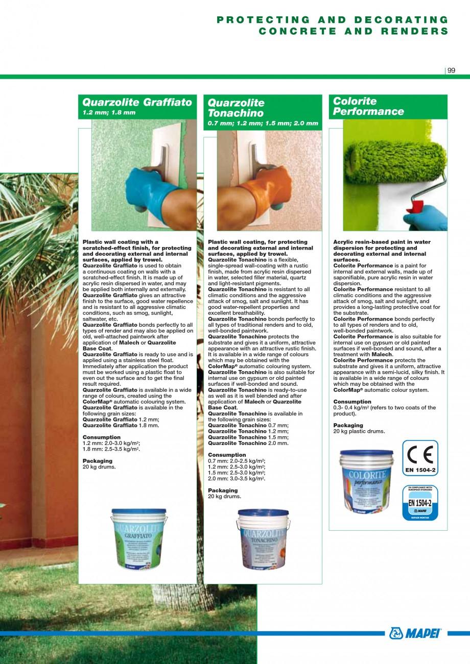 Pagina 101 - Mortare, materiale speciale MAPEI Catalog, brosura Engleza er mixing, Epojet becomes a ...