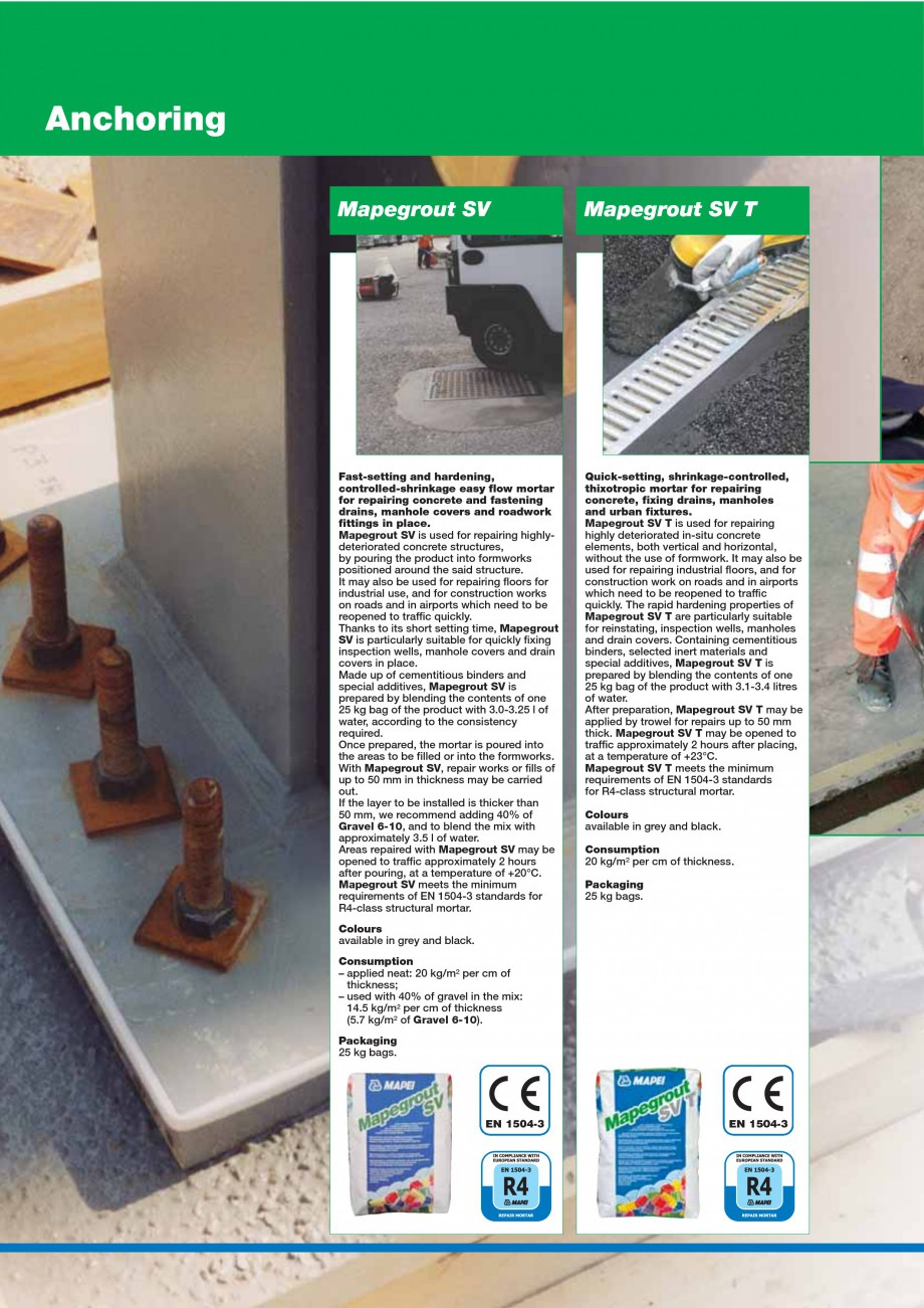 Pagina 106 - Mortare, materiale speciale MAPEI Catalog, brosura Engleza engthening reinforced...