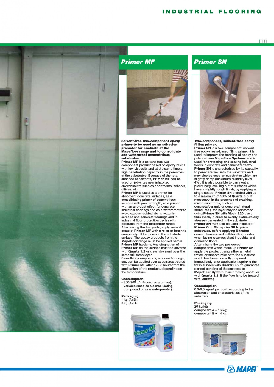 Pagina 113 - Mortare, materiale speciale MAPEI Catalog, brosura Engleza ressive and bending stress...