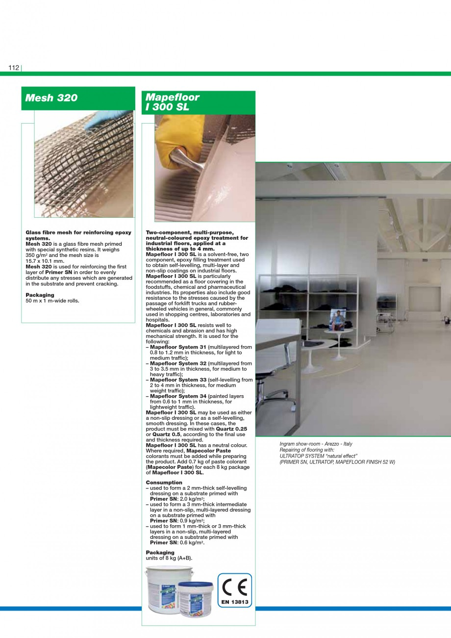 Pagina 114 - Mortare, materiale speciale MAPEI Catalog, brosura Engleza of elasticity (comparable to...