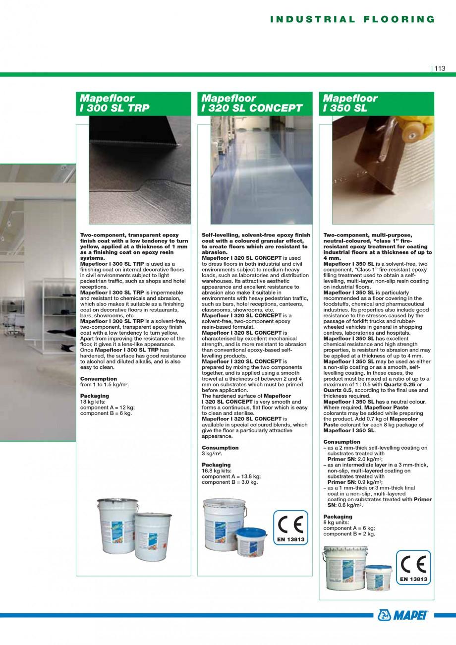 Pagina 115 - Mortare, materiale speciale MAPEI Catalog, brosura Engleza 48.5 cm rolls (380 g/m2);...