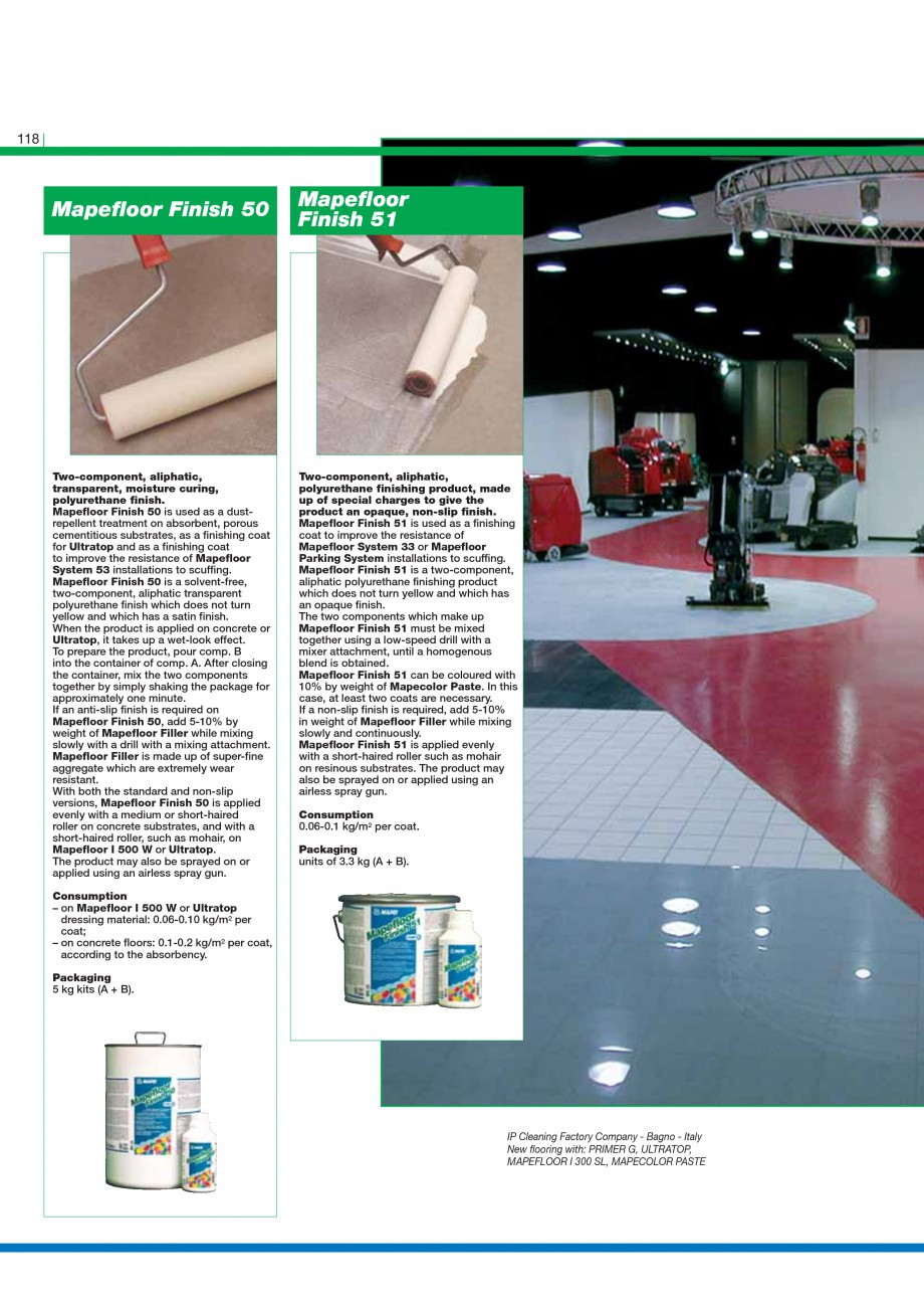 Pagina 120 - Mortare, materiale speciale MAPEI Catalog, brosura Engleza developed for impregnating...