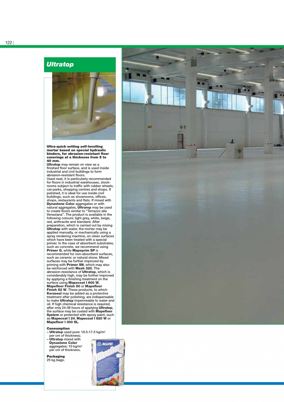 Pagina 124 - Mortare, materiale speciale MAPEI Catalog, brosura Engleza  surfaces. MapeWrap 11 is a ...