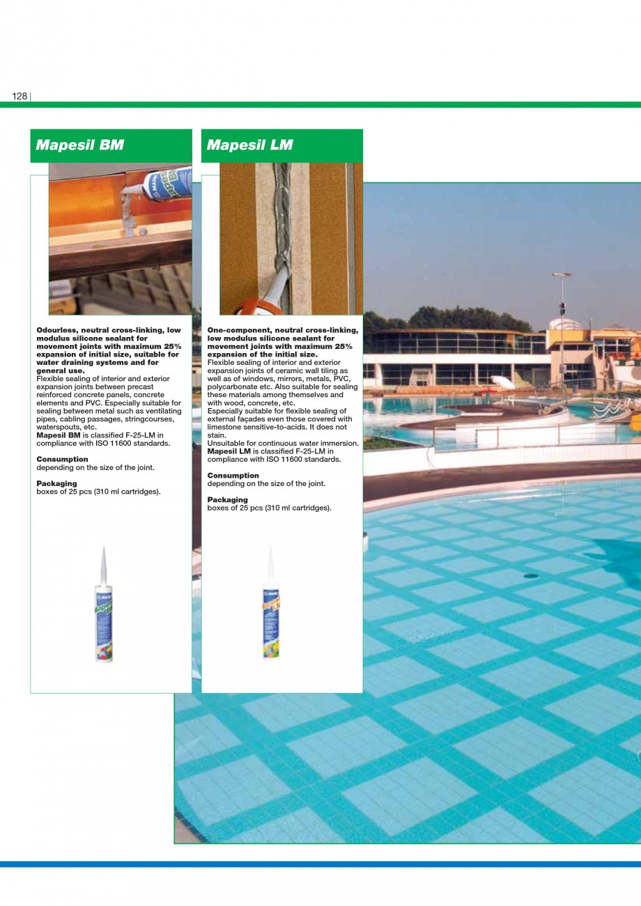 Pagina 130 - Mortare, materiale speciale MAPEI Catalog, brosura Engleza ses present in the...