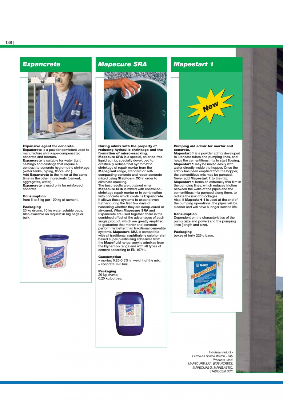 Pagina 140 - Mortare, materiale speciale MAPEI Catalog, brosura Engleza  the formation of cracks...