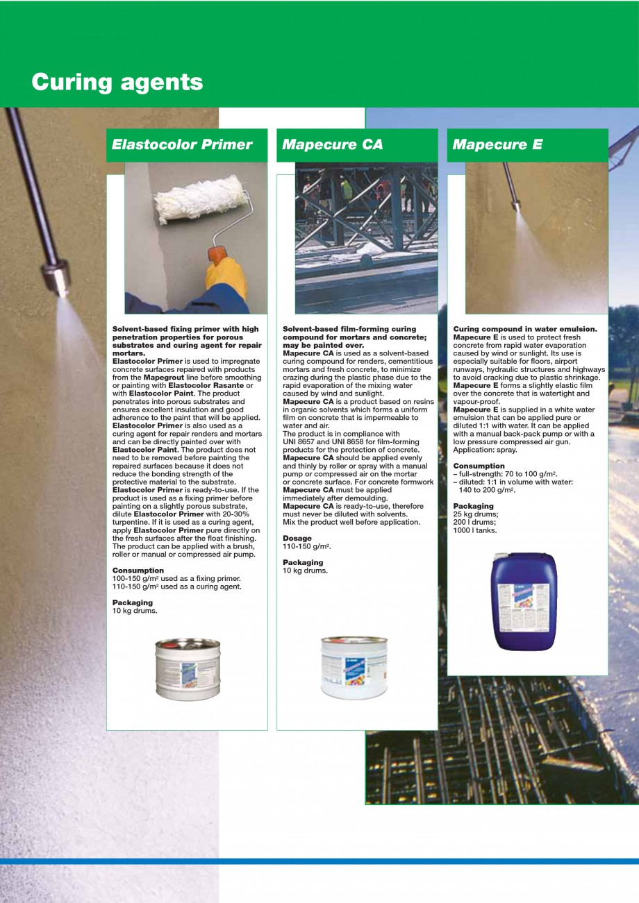 Pagina 142 - Mortare, materiale speciale MAPEI Catalog, brosura Engleza s -20°C. Once it has set,...